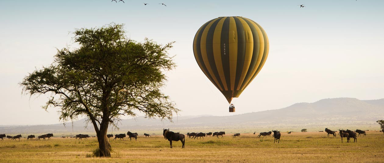 Singita Grumeti hot-air balloon experience, Tanzania East Africa