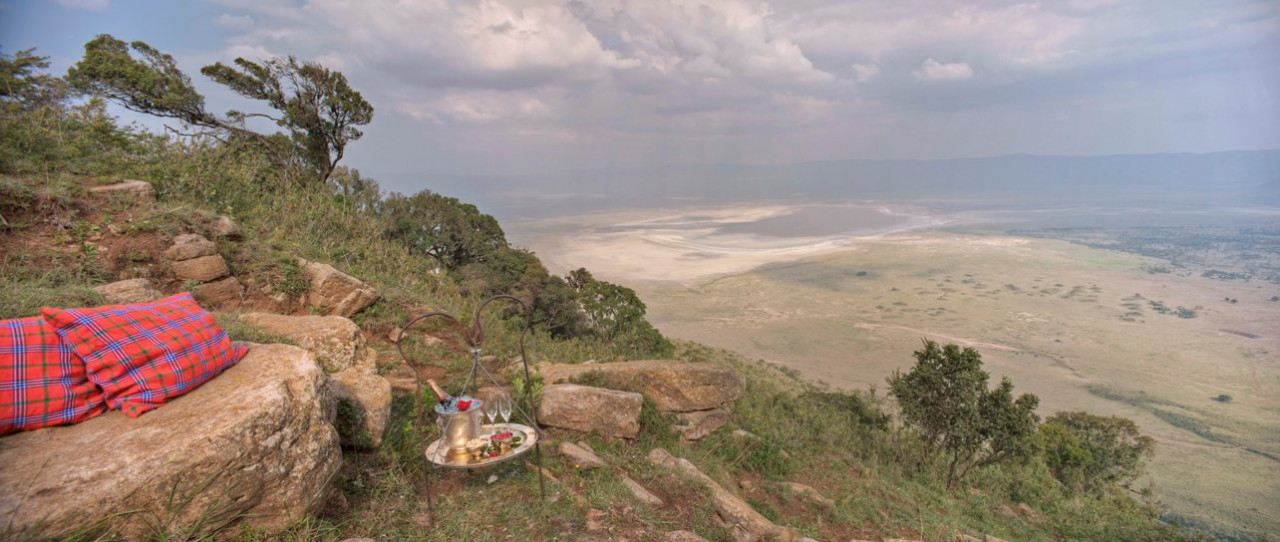 Guests at andBeyond Ngorongoro Crater lodge are treated to magnificent views
