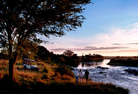 Sunset  at the Mara River -  Singita Mara River Tented Camp