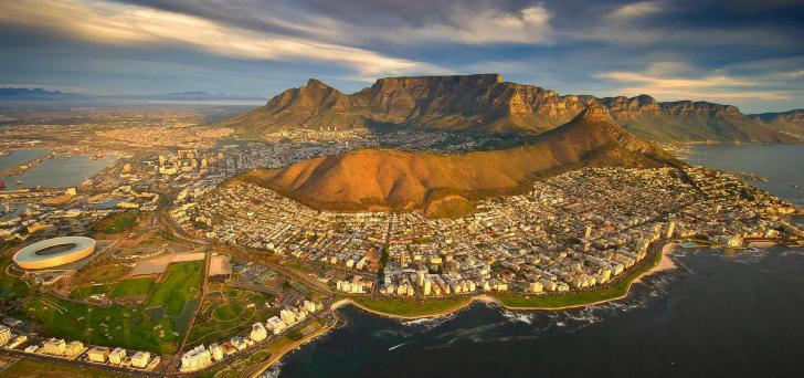 Aerial view of Cape Town with the magnificent Table Mountain and Cape Peninsula as backdrop - photo courtesy Ellerman House